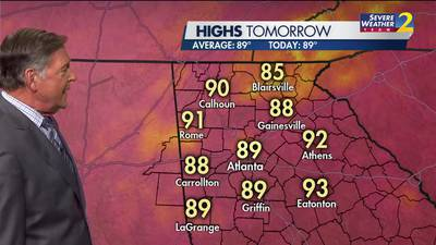 Another hot day in store for your Friday