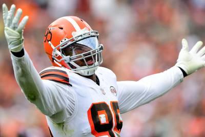 Halloween message? Cleveland Browns' Myles Garrett gets gridiron inspiration for holiday decorations